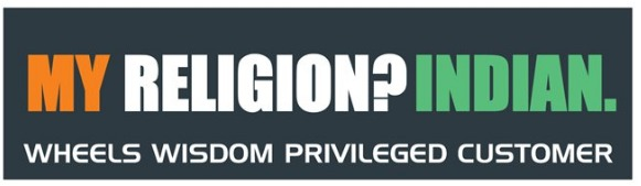My Religion Indian Bumper Sticker